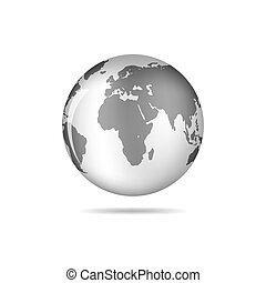 Black Globe Earth Icon