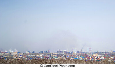 Ironworks Environmental pollution by heavy metals and smoke