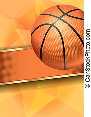 Basketball Poster with Basketball Ball. Basketball Playoff...