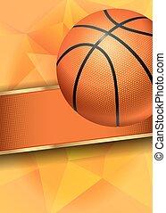 Basketball Poster with Basketball Ball. Basketball Playoff...