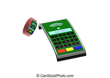 Fashion mPos machine with nice smart watch for payment - The...