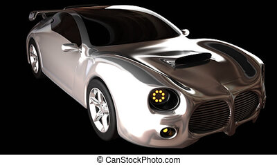 rendered in PNG with alpha luxury brandless sport car