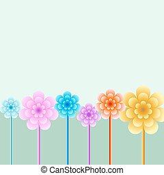 Bright floral background illustration.