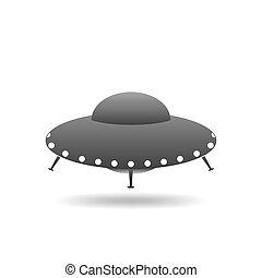 UFO Flying Saucer  illustration.