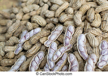 Monkey nuts at the market - Monkey nuts or Peanut for sale...