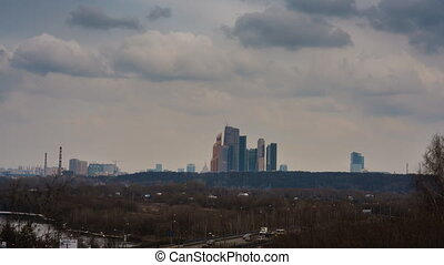 The highest building in Moscow, business center Moscow-City...