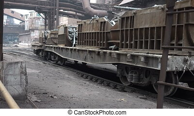 Gondola cars, pulling a scrap metal factory 2 - Stages of...