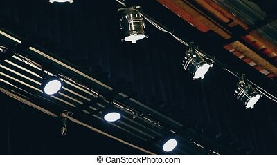 lighting in the theater ceiling concert