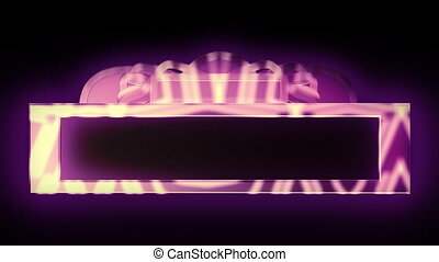 Looping Purple Theatrical Marquee - Theatrical marquee...