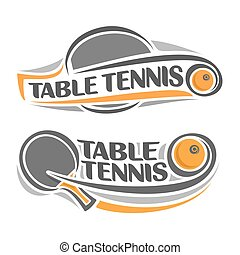 Table tennis - The image on the table tennis theme