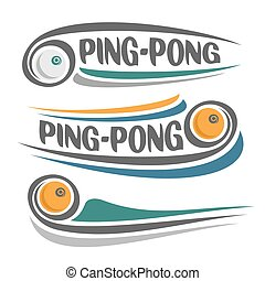 Ping-pong - The image on the ping-pong theme