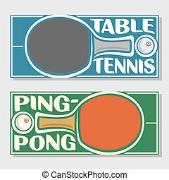Table tennis - Background images for text on the subject of...