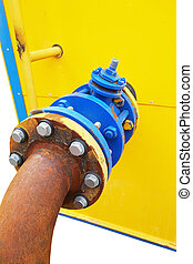 the metallic pipe - the big metallic Pipes and Valves