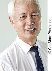 senior asian business man