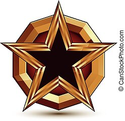 Vector glorious glossy design element, luxury 3d black star...