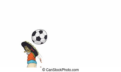soccer ball animation - stop motion animation of a white...