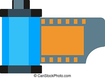 Camera vintage film roll cartridge illustration. - Camera...