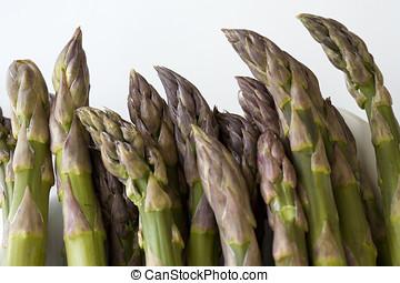 Asparagus tips.