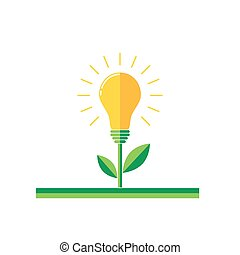Abstract light bulb icon illustration.