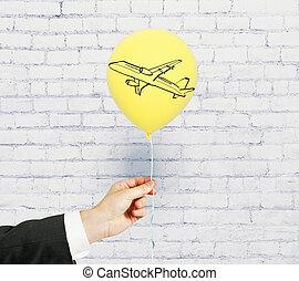 Plane on balloon