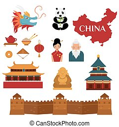 Chinese traditional culture lanterns and objects...