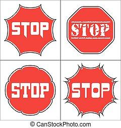 Set a stop sign