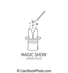magic hat and magic wand.