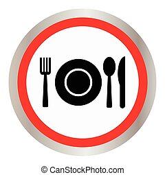 Fork, spoon and plate