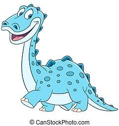cute cartoon diplodocus