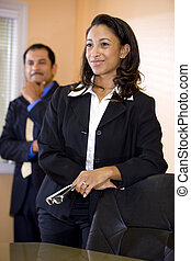 Confident young African-American businesswoman with...