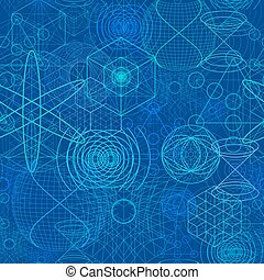 Sacred geometry symbols and elements wallpaper seamless...