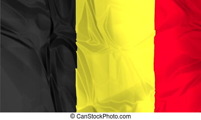 Flag of Belgium waving - The national waving flag of...