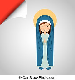 Blessed virgin design - Blessed virgin design, vector...