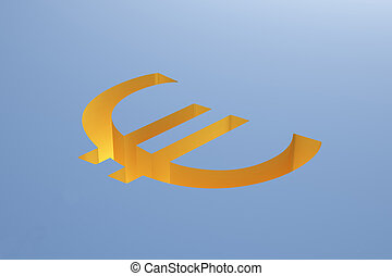 Euro on blue