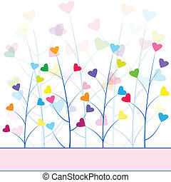 Love forest , abstract background