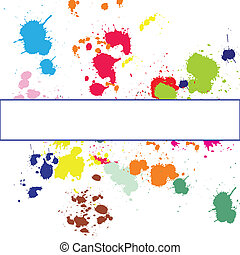 Background with ink spots