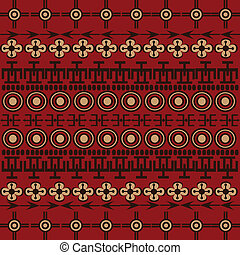 Background with ethnic African symbols and ornaments