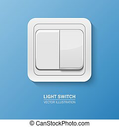 Vector background with realistic light switch - Background...