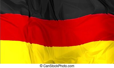 Flag of Germany waving - The national waving flag of Germany...
