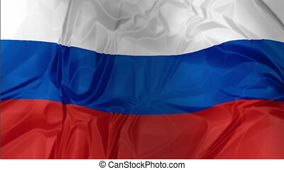 Flag of Russia waving - 3D illustration of Russia Flag,...