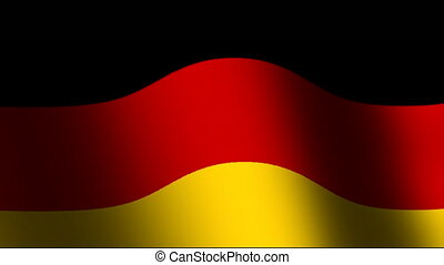 Flag of Germany waving - The national waving flat flag of...