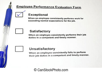 Employee Performance Evaluation form with check on the...