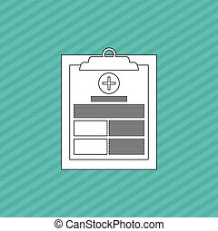 medical history icon design - medical care concept with icon...
