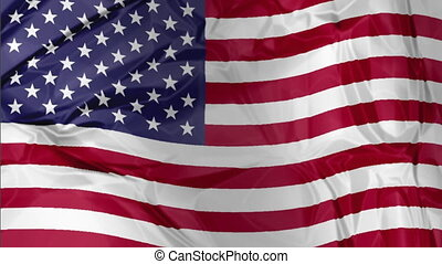 American Flag waving - 3D waving American flag background...