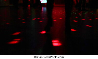 boots dancing in the dark - woman in boots dancing on...
