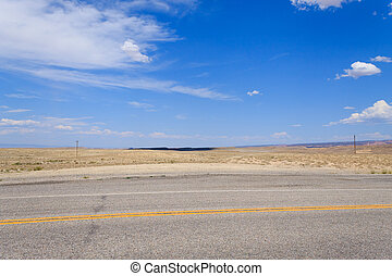 Road in perspective, Colorado highway, United States of America