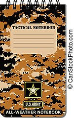 Tactical notebook for the army, used in all weathers