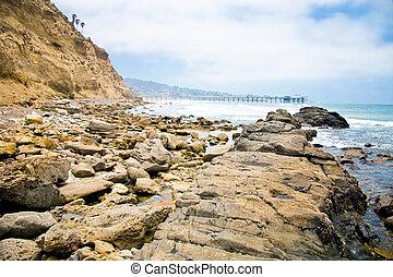 Shoreline along the ocean