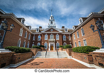 The Delaware State Capitol Building in Dover, Delaware
