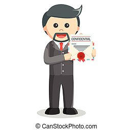 Business man confidential mail